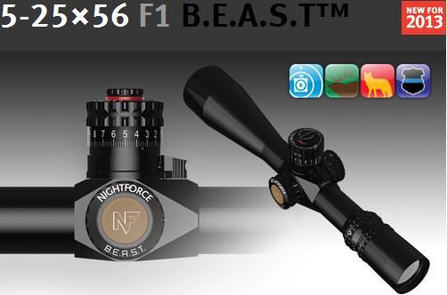 Nightforce B.E.A.S.T. 5-25-56 scope